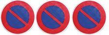 3 DISQUE PANNEAU SIGNALISATION DEFENSE DE STATIONNER ° 300 M PVC RIGIDE