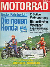 Motorrad 21 78 BMW R 100 RT Velosolex Wasp Yamaha RS 100 Honda CB 900 F 1978