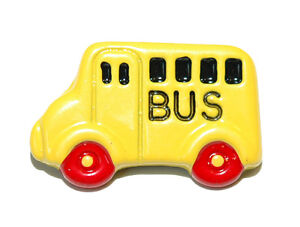 BRIGHT YELLOW ENAMEL SCHOOL BUS TIE PIN TACK (127)