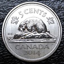 2014 RCM PRIVY CANADA - 5 CENTS - NICKEL PLATED STEEL - Elizabeth II - SPECIMEN
