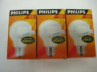 PHILIPS 3 X BOMBILLAS SOFT AZUL T60 60W E27