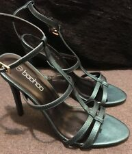 Boohoo Women's Shoes - Dark Green HEELS Sandal T-Strap US Size 9 - UK Size 7