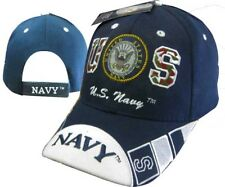 U.S. Navy Seal Crest Insignia on Bill Blue Embroidered Cap Hat 602e