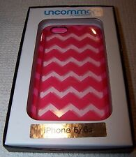 Uncommon iPhone 6/6s Hard Case PINK/CLEAR CHEVRON ~ NWT $40