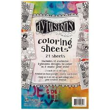"""Dyan Reaveley's Dylusions Coloring Sheets 5""""X8"""" - #1"""