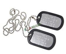 Piastrine Militari PERSONALIZZATE in Metallo con Catenella e Silenziatore DogTag
