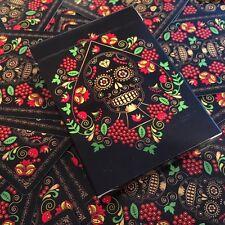 """CALAVERAS DE AZÚCAR"" Playing Cards (Black Edition) Printed by USPCC Brand New"