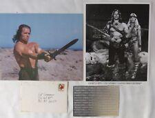 ARNOLD SCHWARZENEGGER SIGNED CHRISTMAS + CARD AND PHOTOS/1977