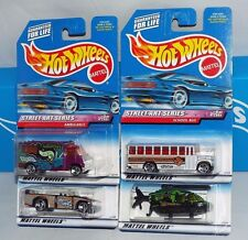 Hot Wheels 1999 Street Art Series 4 Car Set Ambulance Bus Chopper Mini Truck