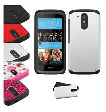 HTC Desire 555 650 626S Slim Hybrid Rubber ShockProof Hard Protective Case Cover