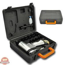 16pcs Air Tool Kit 1/2 Compressor Impact Ratchet Wrench Gun & 9-27mm Socket Set