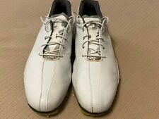 Footjoy DNA Golf Shoes, White Leather, 9 Medium, Fine Condition