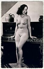 NUDE WOMAN & PIANO / NACKTE FRAU & KLAVIER * Vintage 50s French Risque Photo
