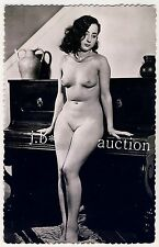 Nude woman & piano/femme nue & piano * vintage 50s FRENCH risque photo