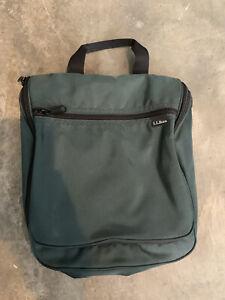 LL BEAN Original Personal Organizer Toiletry Travel Hanging Tote Bag Green
