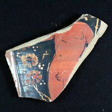 "Beautiful Ancient Greek Pottery Shard 350 - 250 Bc. Measures 3.75"" x 2.0"" gr028"