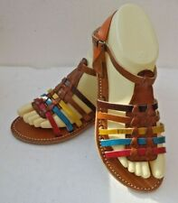 0476822bc421 100% MOROCCAN LEATHER GLADIATOR SANDALS MULTI COLOURS   5 sizes available
