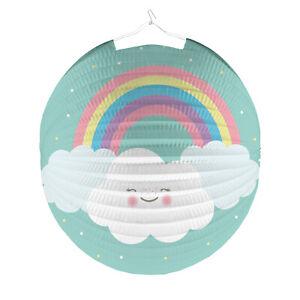 Rainbow & Cloud Regenbogen Wolke Kinder Laterne LAMPION rund 25cm