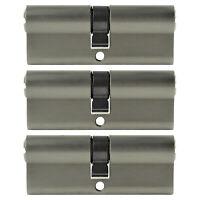 3x Profilzylinder 80mm 40/40 15x Schlüssel Tür Zylinder Schloss gleichschließend