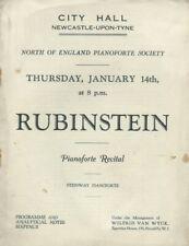 1930s Artur Rubinstein Prokofiev Granados Newcastle-upon-Tyne concert programme