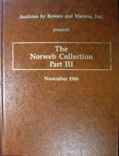 Norweb Collection III Auction Catalog B&M November 1988 Hardcover Fugios Copper