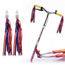 Bike Handlebar Streamers Tassels Bicycle Cycling Tricycle Decor Kids Gift 2 Pack