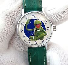 "MUPPET'S, Picco,""Kermit The Frog"",17 Jewel Manual Wind,RARE,CHARACTER WATCH,176"