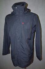 Fjallraven Milford Mens Jacket Hydratic Coat Top Long Black Hood Size M Medium