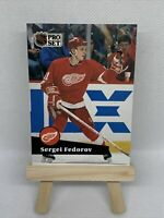 1991 PRO SET NHL HOCKEY RED WINGS DE DETROIT SERGEI FEDOROV #53