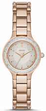 DKNY NY2393 Chambers Silver Dial Rose Gold Stainless Steel Women's Watch