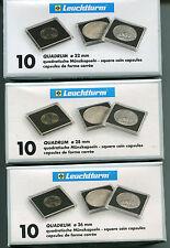 CAPSULE QUADRUM LEUCHTTURM 26 mm 1 CONFEZIONE- 10 CAPSULE!!