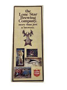 Lone Star Beer Brewing Compnay Vintage Brochure AA5
