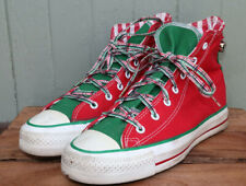 Vtg Converse Made In Usa Christmas Red Green Jingle Bell High Tops Men 6 Women 8