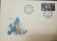 L) 2004 CZECH REPUBLIC, FLAG, STAR, MAP, 9KC, FDC