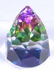 "Swarovski Crystal Medium Vitrail Rainbow Cone Shaped Paperweight 3""H x 2.25""D"