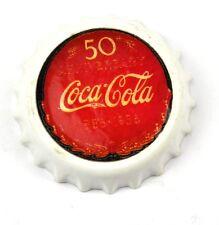 COCA-Cola USA Calamita Frigorifero Magnete Fridge Magnet COKE-TAPPI A CORONA 50 Aniv.