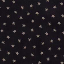 Coupon de Tissu Moda Imprimé petites étoiles crème  sur fond bleu nuit 45x55cm