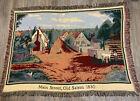 Old Salem Main Street 1830 afghan throw blanket tapestry Measures 48 X 68 Flaws