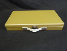 VINTAGE GOLD SLIDE/COIN METAL STORAGE CASE/BOX