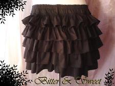Black short bloomers S-M-L-XL-Steampunk-Gothic-Lolita-Cabaret-Bettie Page-Circus