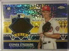 2016 Topps Chrome All-Star Stiches STEPHEN STRASBURG Game Used Jersey Relic