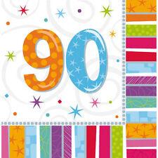 16 Servietten 90. Geburtstag mit Zahl  Deko Tischdeko  neu