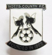 """NOTTS COUNTY - Superb Enamel Football Pin Badge """"Founded 1862"""""""