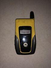 Motorola i560 Black And Yellow Flip Phone - Nextel/Sprint