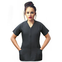 Beauty Tunic Salon Spa Therapist Nail Hairdressing Black Tunic Salon Uniform