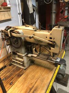 PFAFF 3334 Industrial Sewing Machine Bar Tack Machine | working w/ example tack