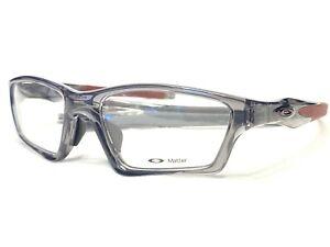 NEW Oakley Crosslink OX8033-0655 Men's Grey Smoke Eyeglasses Frames 55/18~140