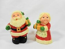 "Salt and Pepper Shakers Santa Claus Mrs Claus 3"" Hallmark Gifts Christmas"