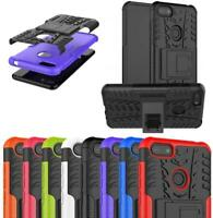 For Moto E6 Play, XT2029, Armour Shockproof Phone Case Cover + 9H Tempered Glass
