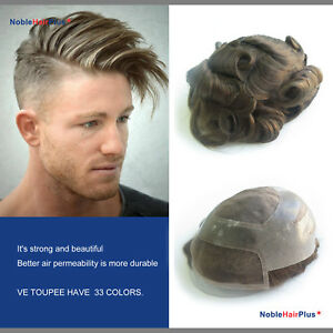 Durable Toupee for Men Front Mono Center System Hair Extensions Noblehairplus